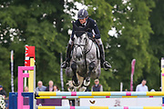 Lordana VH Leysehof Z ridden by Sophie Jenman in the Equi-Trek CCI-4* Show Jumping during the Bramham International Horse Trials 2019 at Bramham Park, Bramham, United Kingdom on 9 June 2019.