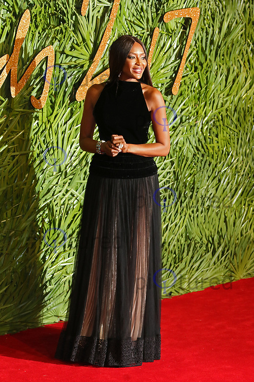 Naomi Campbell, The Fashion Awards 2017, The Royal Albert Hall, London UK, 04 December 2017, Photo by Richard Goldschmidt