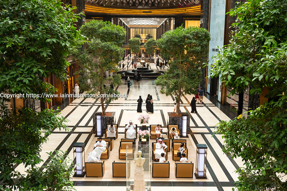 Interior of the Prestige mall inside The Avenues shopping mall in Kuwait City, Kuwait.