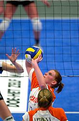 15-04-2001 VOLLEYBAL: ARKE POLLUX - SLIEDRECHT SPORT: DEN BOSCH<br /> Arke Pollux wint de bekerfinale met 3-2 / Diane Rademaker<br /> &copy;2001-WWW.FOTOHOOGENDOORN.NL