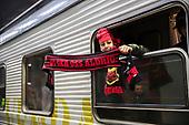 Fans Östersunds FK anländer till Berlin