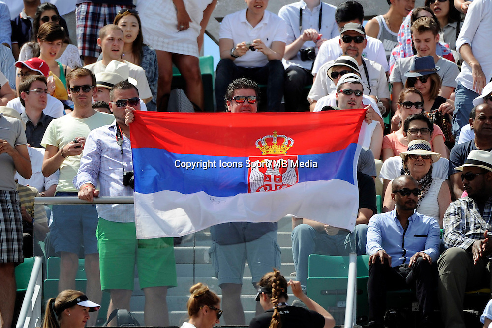 supporters Novak DJOKOVIC  - 07.06.2015 - Jour 15 - Finale   - Roland Garros 2015<br />Photo : Nolwenn Le Gouic / Icon Sport