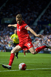 WEST BROMWICH, ENGLAND - Sunday, May 15, 2016: Liverpool's captain Jordan Henderson in action against West Bromwich Albion during the final Premier League match of the season at the Hawthorns. (Pic by David Rawcliffe/Propaganda)