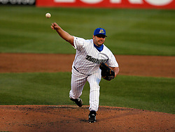 May 24, 2007; Trenton, NJ, USA;  Roger Clemens (22) pitches for the Trenton Thunder (New York Yankees Double-A affiliate) during their Eastern League game against the Portland Sea Dogs at Waterfront Park in Trenton, NJ.