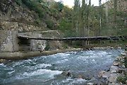 Turkey, Pontic Mountains range, A bridge across gushing water