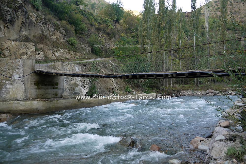 Turkey, Pontic Mountains range, A bridge across gushing water