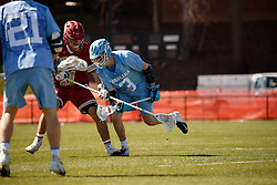 CHAPEL HILL, NC - MARCH 02: William Perry #3 of the North Carolina Tar Heels during a game against the Denver Pioneers on March 02, 2019 at the UNC Lacrosse and Soccer Stadium in Chapel Hill, North Carolina. Denver won 12-10. (Photo by Peyton Williams/US Lacrosse)