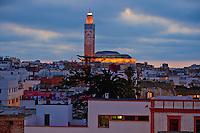 Maroc, Casablanca, Ancienne Medina et la mosquee Hassan II // Morocco, Casablanca, Old Medina and Hassan II mosque