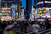 Nightlife at Central Road connecting to Shinjuku Toho Building in Kabukicho, Shinjuku, Tokyo, Japan on 3rd of July 2018. Kabukicho is called Sleepless Town because there are lots of entertainment businesses at night there. It is also a red-light district in Shinjuku. The nightlife there is so busy with lots of travellers and visitors who do not want to sleep so early and looking for somewhere having fun. 03/07/2018-Tokyo, JAPAN