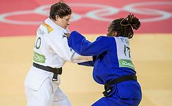 09-08-2016 BRA: Olympic Games day 4, Rio de Janeiro<br /> In de klasse tot -63 kilogram wint Tina Trstenjak SLO van Edwige Gwend ITA<br /> Photo by Ronald Hoogendoorn / Sportida