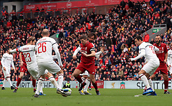 Liverpool's Steven Gerrard in action during the Legends match at Anfield Stadium, Liverpool.