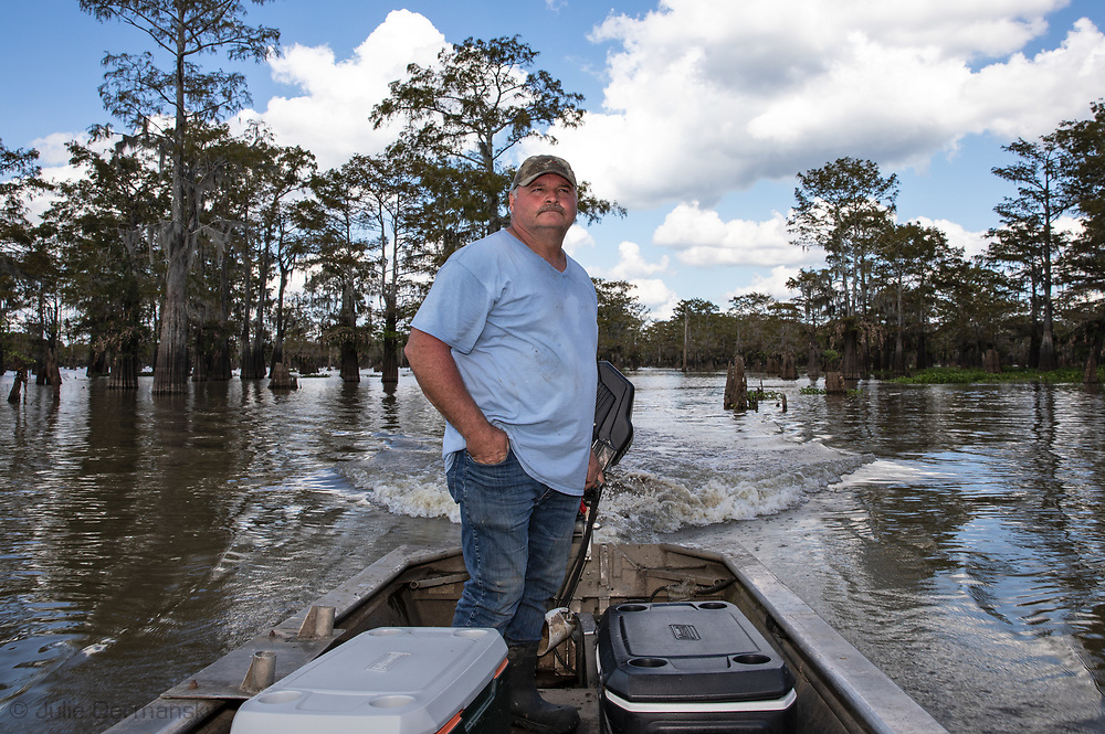 Jody Meche, president of Louisiana Crawfish Producers Association West. in the Atchafalaya Basin.