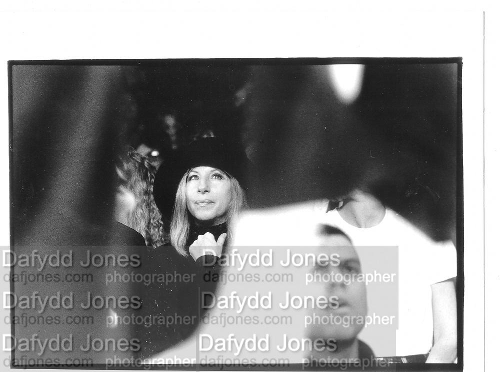 Barbara Streisland at Donna Karan Show approrox 1990, New York© Copyright Photograph by Dafydd Jones 66 Stockwell Park Rd. London SW9 0DA Tel 020 7733 0108 www.dafjones.com