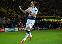 Football - 2018 / 2019 UEFA Champions League - Round of Sixteen, Second Leg: Borussia Dortmund (0) vs. Tottenham Hotspur (3)<br /> <br /> Harry Kane (Tottenham FC) celebrates after scoring the opening goal of the game at Signal Iduna Park (Westfalenstadion).<br /> <br /> COLORSPORT/DANIEL BEARHAM