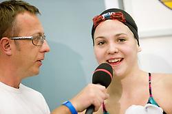 Robert Pecnik Peco and Nina Drolc of Slovenia after the swimming competition Ilirija Challenge 2009, on December 16, 2009, in Tivoli pool, Ljubljana, Slovenia. (Photo by Vid Ponikvar / Sportida)