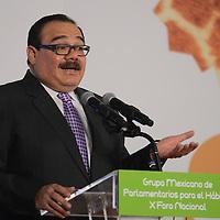 Toluca, México.- Jorge Carlos Ramírez Marín, Secretario de Desarrollo Agrario, Territorial y Urbano, durante la inauguracion del X Foro Nacional de Parlamentarios para el Hábitat. Agencia MVT / Arturo Hernández.