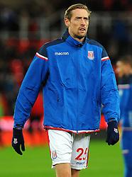 Peter Crouch of Stoke City looks on - Mandatory by-line: Nizaam Jones/JMP - 31/01/2018 - FOOTBALL - Bet365 Stadium - Stoke-on-Trent, England - Stoke City v Watford - Premier League