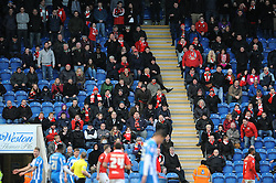 Bristol City fans away at Colchester United - Photo mandatory by-line: Dougie Allward/JMP - Mobile: 07966 386802 - 21/02/2015 - SPORT - Football - Colchester - Colchester Community Stadium - Colchester United v Bristol City - Sky Bet League One