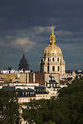 The two domes of Les Invalides, (near) Pantheon (far), Paris, France
