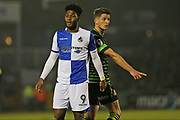 Bristol Rovers Ellie Harrison (9) during the EFL Sky Bet League 1 match between Bristol Rovers and Doncaster Rovers at the Memorial Stadium, Bristol, England on 23 December 2017. Photo by Gary Learmonth.