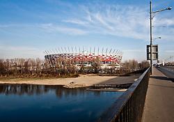 29.11.2011, Warschau, POL, Euro 2012, Nationalstadion, im Bild features vom neu errichteten Warschauer Nationalstadion, ein für die Europameisterschaft 2012 im Bau befindliches Fußballstadion in der polnischen Hauptstadt Warschau. Baubeginn ist 2009, Fertigstellung im Herbst 2011, mit einer Kapazität von 58000 Sitzplätzen // features from the Warsawer nationalstadium, is one for the 2012 European soccer stadium under construction in Warsaw, Poland, Construction began in 2009, completed in autumn 2011, with a capacity of 58,000 seats on 2011/11/29. EXPA Pictures © 2011, PhotoCredit: EXPA/ Newspix/ Marcin Kalinski..*****ATTENTION - for AUT, SLO, CRO, SRB, SUI and SWE only *****