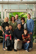 The Morrison family is photographed at the Bird Haven Greenhouse & Conservatory at Pilcher Park in Joliet Il.