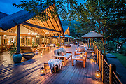 Luxury accomodation at Karkloof Safari Spa in KZN South Africa. Photography at dusk.