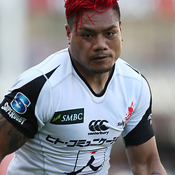 DURBAN, SOUTH AFRICA - MARCH 10: Lomano Lemeki of the HITO-Communications Sunwolves during the Super Rugby match between Cell C Sharks and Sunwolves at Jonsson Kings Park Stadium on March 10, 2018 in Durban, South Africa. (Photo by Steve Haag/Gallo Images)