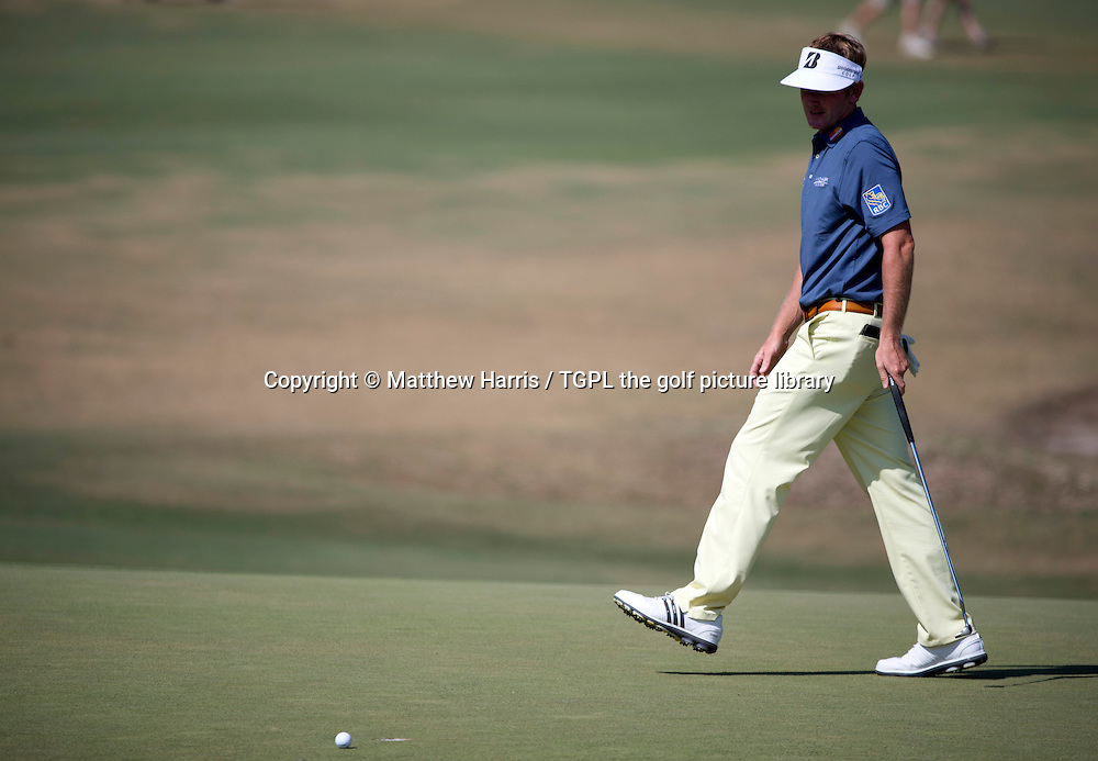 Brandt SNEDEKER (USA)misses putt at 5th during fourth round US Open Championship 2014,Pinehurst No 2,Pinehurst,North Carolina,USA.