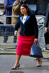 © Licensed to London News Pictures. 16/03/2016. London, UK. Minister of State for Employment PRITI PATEL attending to a cabinet meeting in Downing Street on the Budget Day, Wednesday, 16 March 2016. Photo credit: Tolga Akmen/LNP