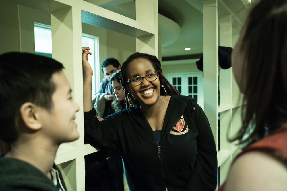 "SAN FRANCISCO, CA – JANUARY 14, 2016: Minerva college students enjoy authentic meals from their respective countries during a ""10:01"" dinner in the San Francisco residence hall.<br /> <br /> Minerva is a unique 21st century university built on a global four-year education model. It is deliberately designed to enhance intellectual growth and prepare students for success in today's rapidly changing global context. Founded in 2014, the university targets the developing world's rising middle class who seek an elite American education. With a 2.8% acceptance rate among the founding class, Minerva is the most selective undergraduate program in U.S. history."