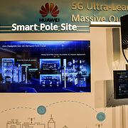 Smart Pole Site exhibition at 5G World at Excel London, on 11 June 2019, UK.