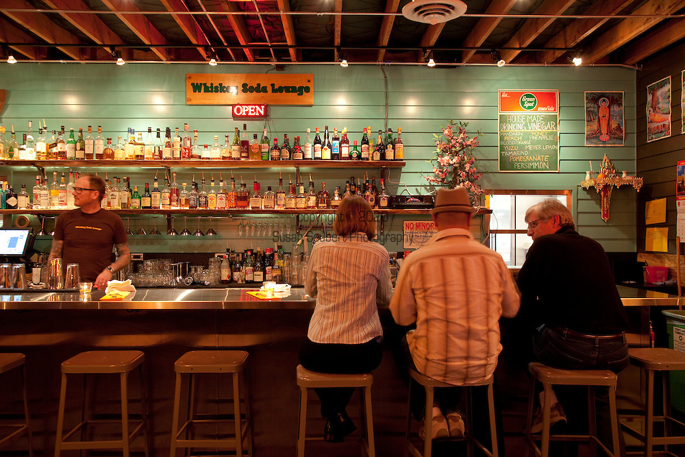 The Whiskey Soda Lounge in Portland, Oregon's SE Neighborhood serves up aahaan kap klaem, the drinking food of Thailand, and the same drinks menu as its mother restaurant, Pok Pok