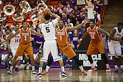 FORT WORTH, TX - JANUARY 19: Isaiah Taylor #1 of the Texas Longhorns defends against Kyan Anderson #5 of the TCU Horned Frogs on January 19, 2015 at Wilkerson-Greines AC in Fort Worth, Texas.  (Photo by Cooper Neill/Getty Images) *** Local Caption *** Isaiah Taylor