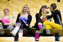 Fans during handball match between RK Celje Pivovarna Lasko and HC Aarhus Haandbold (DEN) in second leg match of  Last 16 of EHF Cup Winners' Cup, on February 18, 2012 in Arena Zlatorog, Celje, Slovenia. Celje defeated Aarhus 26-24 and qualified to quarterfinals. (Photo By Vid Ponikvar / Sportida.com)