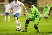 Anthony Jeffrey during the Glos Senior Cup Final match between Forest Green Rovers and Bishops Cleeve at the New Lawn, Forest Green, United Kingdom on 2 May 2016. Photo by Shane Healey.