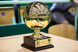 Trophy during basketball match between KK Zlatorog and KK Helios Suns in 1st match of Nova KBM Slovenian Champions League Final 2015/16 on May 29, 2016  in Dvorana Zlatorog, Lasko, Slovenia.  Photo by Ziga Zupan / Sportida