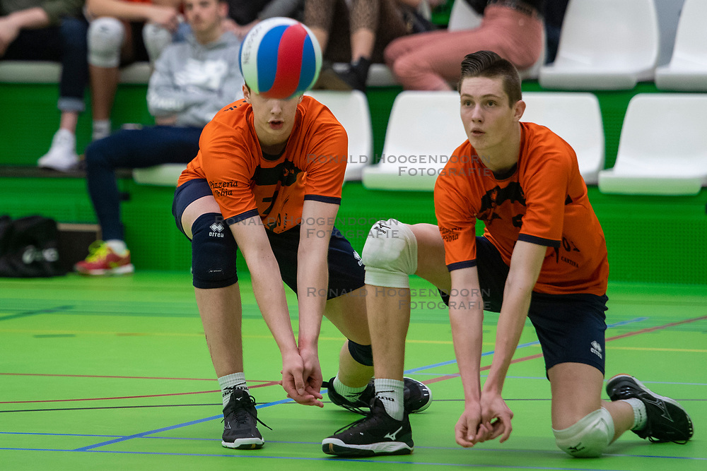 31-03-2019 NED: Final A Volleybaldirect Open, Koog aan de Zaan<br /> 16 teams of girls and boys A competed for the Dutch Open Championship / Orion Volleybal Doetinchem vs. SV Dynamo