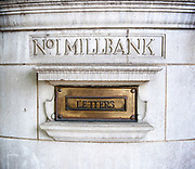 Letter Box at No. 1 Millbank, Westminster,  London, Great Britain <br /> 6th September 2017 <br /> <br /> <br /> <br /> <br /> <br /> Photograph by Elliott Franks <br /> Image licensed to Elliott Franks Photography Services