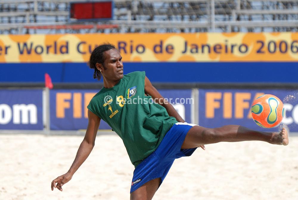 Football-FIFA Beachsoccer World Cup 2006-Group C- Solomon- Training sessionRio de Janeiro Brazil-31/10/2006.<br /> Mandatory credit: Photocamera/Marco Antonio Rezende.