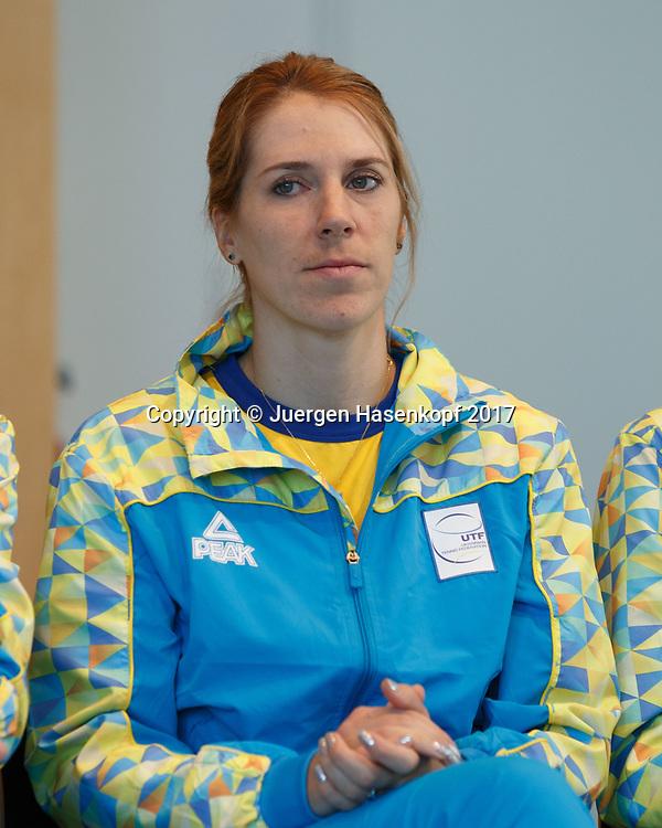 Fed Cup GER-UKR, Deutschland - Ukraine, Auslosung im Rathaus Stuttgart, Team Ukraine,<br /> OLGA SAVCHUK (UKR)