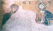 byzantine mosaic in Hagia Sophia