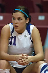 12 November 2006: Amy Sampson..In the final regular season home game at ISU, the Northern Iowa Panthers defeated the Illinois State Redbirds 3 game to 1. The match took place at Redbird Arena on the campus of Illinois State University in Normal Illinois.<br />