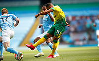 Football - 2019 / 2020 Premier League - Manchester City vs Norwich City<br /> <br /> Onel Hernandez of Norwich City scores at the Etihad Stadium.<br /> <br /> COLORSPORT/LYNNE CAMERON