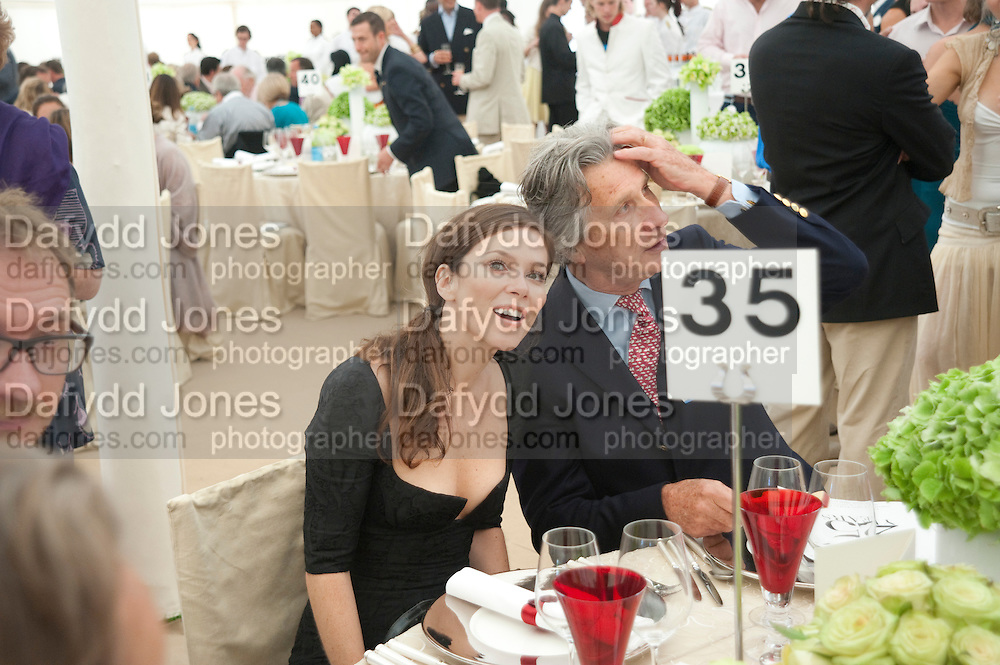 ANNA FRIEL; ARNAUD BAMBERGER;, Cartier International Polo Day at the Guards Polo Club. Windsor. July 26  2009