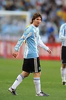 FOOTBALL - FIFA WORLD CUP 2010 - 1/4 FINAL - ARGENTINA v GERMANY - 3/07/2010 - PHOTO FRANCK FAUGERE / DPPI - LIONEL MESSI (ARG)