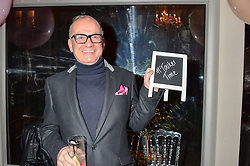 TOUKER SULEYMAN at a party to celebrate the new partnership of Maids to Measure with Touker Suleyman held in The Winter Marquee, Home House, 20 Portman Square, London on 2nd March 2016.