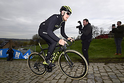 March 30, 2018 - Oudenaarde, Belgique - OUDENAARDE, BELGIUM - MARCH 30 : TRENTIN Matteo (ITA)  of Mitchelton - Scott on the Paterberg climb during a training session prior to the Flanders Classics UCI WorldTour 102nd Ronde van Vlaanderen cycling race with start in Antwerpen and finish in Oudenaarde on March 30, 2018 in Oudenaarde, Belgium, 30/03/2018 (Credit Image: © Panoramic via ZUMA Press)