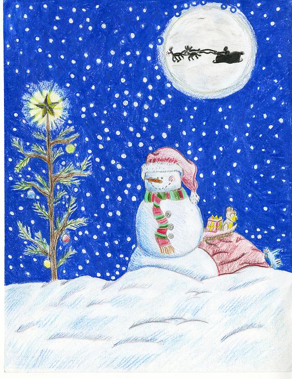 Holiday card designed by Leonardo Garza of Hamilton Middle School.