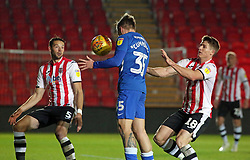 Jason Cummings of Peterborough United scores his sides second goal of the game - Mandatory by-line: Joe Dent/JMP - 04/12/2018 - FOOTBALL - St James Park - Exeter, England - Exeter City v Peterborough United - Checkatrade Trophy